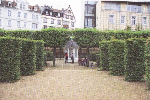 Rokové divadlo v městské části zahrad v Darmstadtu