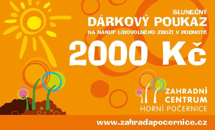 Dárkový poukaz - Slunečný 2000 Kč