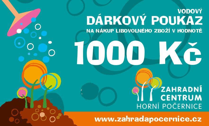 Dárkový poukaz - Vodový 1000 Kč