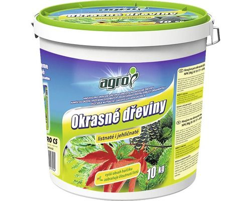 Hnojivo pro okrasné dřeviny - Agro 10kg KYBLÍK Agro CS