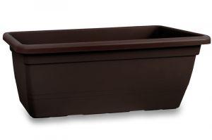 Truhlík plastový ANTHEA (čokoláda) 60 cm